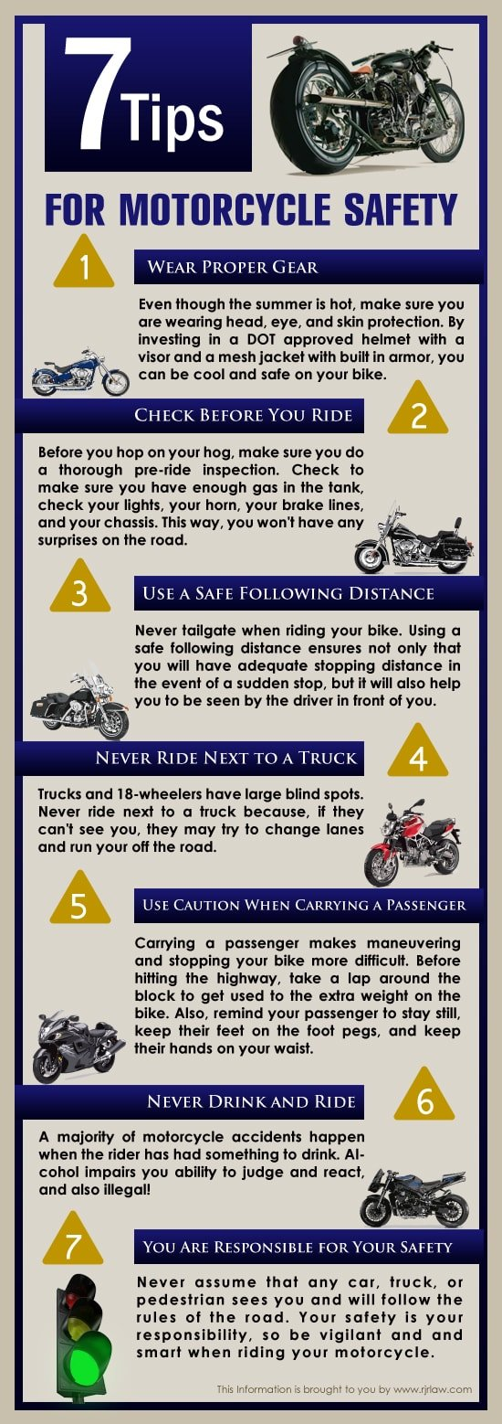 Infographic: Safety Tips for Motorcycle Riding