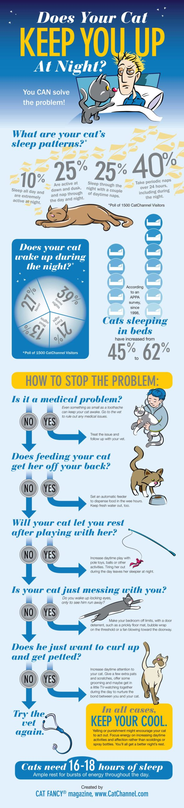 Infographic: Does your cat keep you up at night?