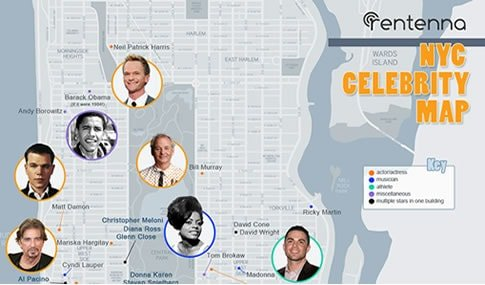 Here Now, All of New York's Celebrity Homes on One Map ...