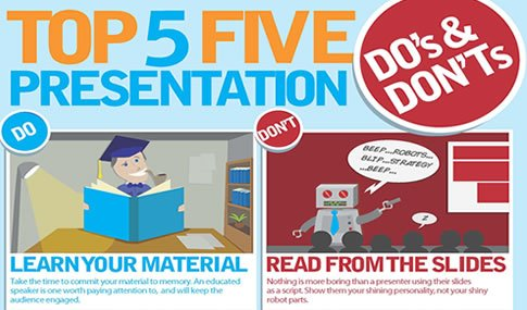 Infographic Top Five Presentation Do S And Don Ts