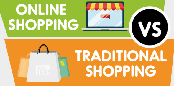 Online shopping vs traditional shopping research