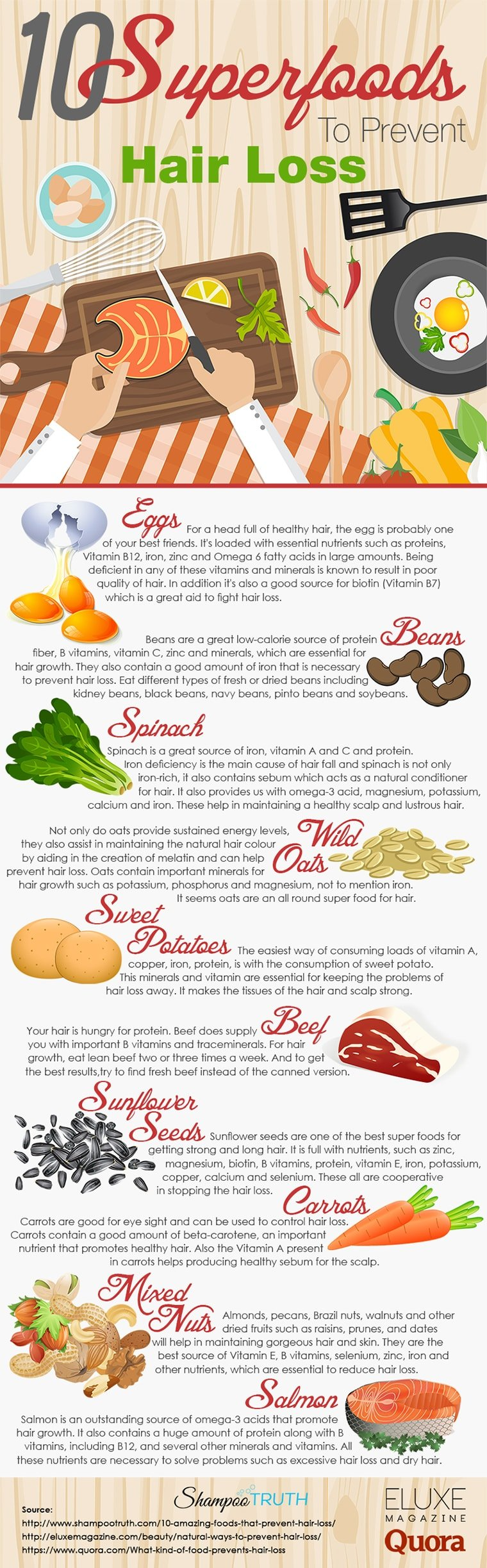 10 Superfoods to Prevent Hair Loss