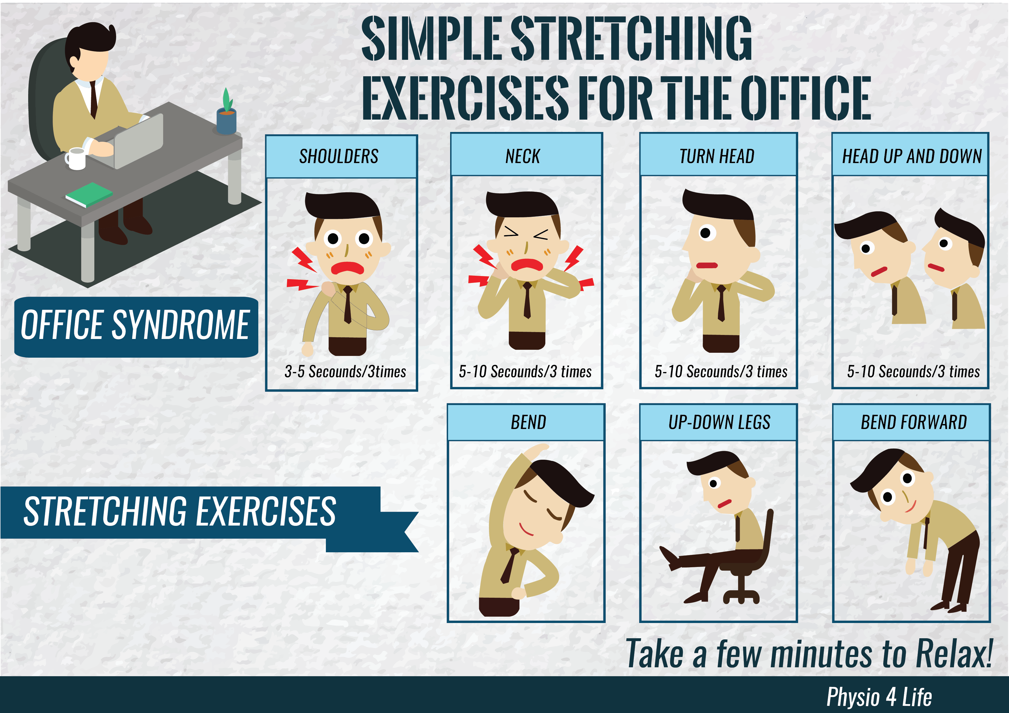 Simple Stretching Exercises For The Office