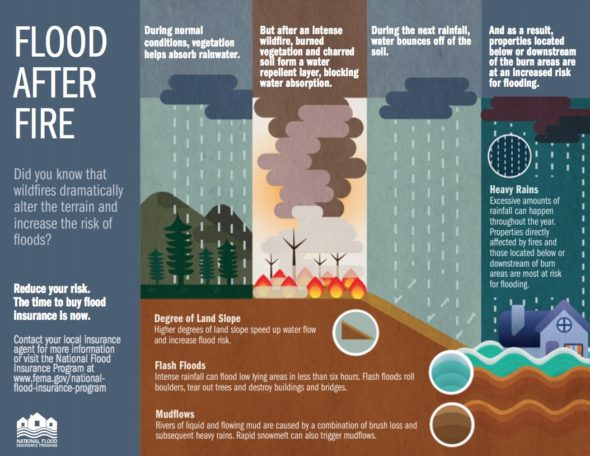 Wildfires Dramatically Increase The Risk of Floods