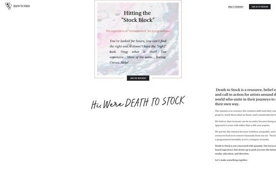Death To The Stock Photography website