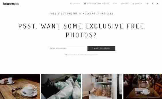 Kaboompics Free Stock Photography website