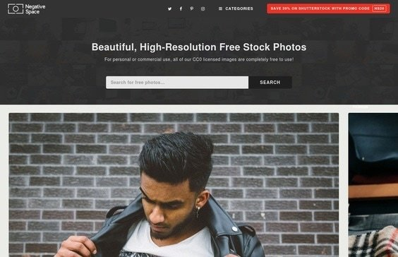 Negative Space Free Stock Photography website